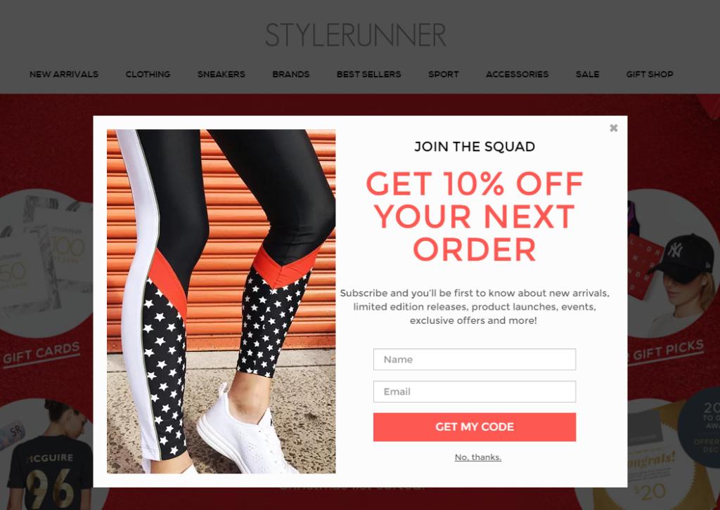 stylerunner-initial-order-discount-bouncepilot